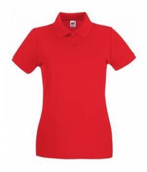 Женская футболка Поло хлопок 030-40-В480  fruit of the loom