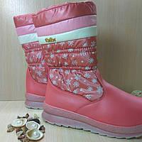 Зимние непромокаемые сапоги для девочки. Размер 36