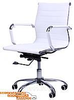Белый офисный стул на колесиках Slim Слим , фото 1