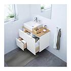 Шкаф с раковиной IKEA GODMORGON / TOLKEN / TÖRNVIKEN 82x49x72 см с 3 ящиками белый бамбук 491.911.78, фото 2