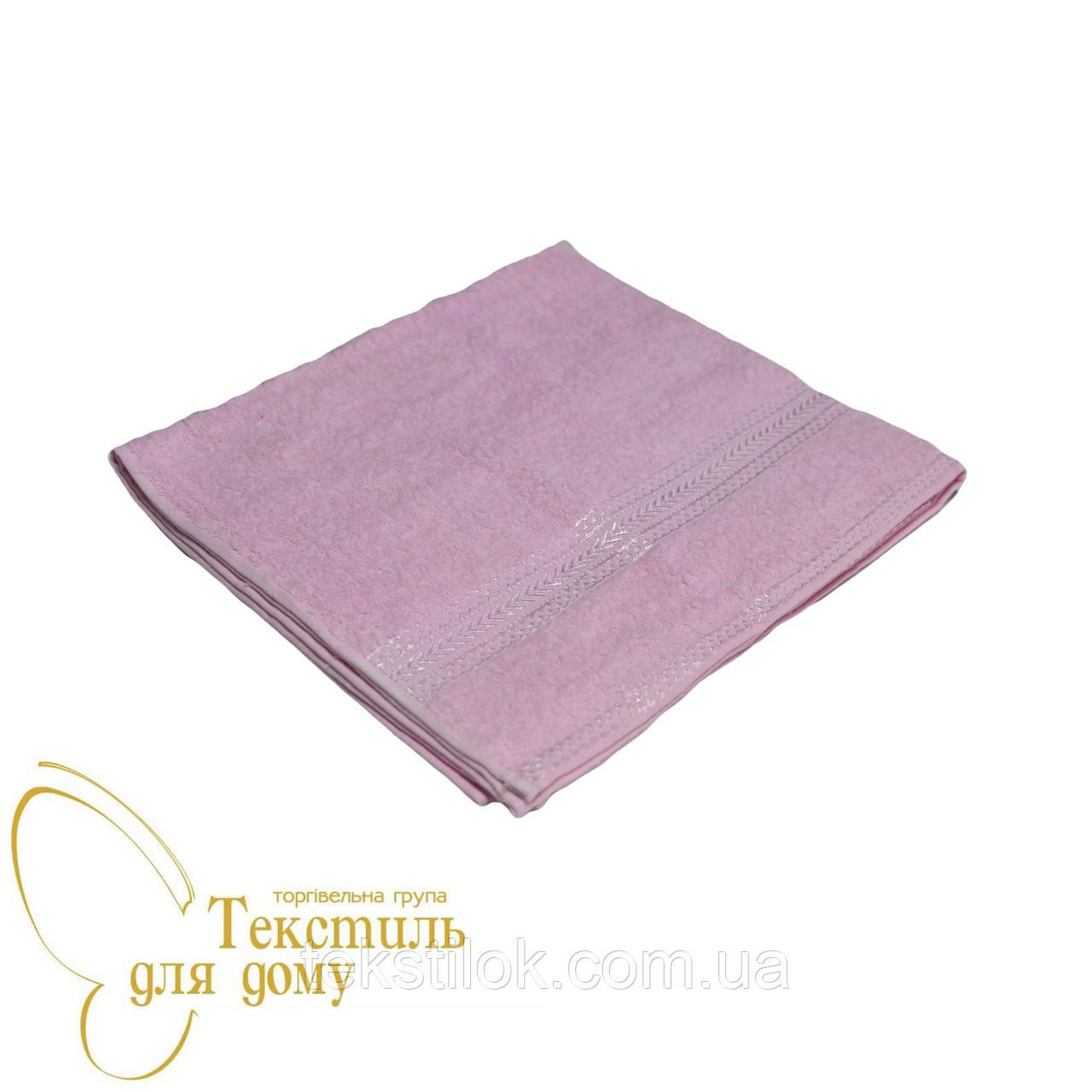 Полотенце банное 70*130, 360 гр/м2, розовое