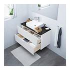 Шкаф с раковиной IKEA GODMORGON / TOLKEN / TÖRNVIKEN 102x49x72 см с 2 ящиками белый антрацит 091.851.41, фото 2