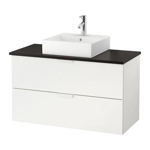 Шкаф с раковиной IKEA GODMORGON / TOLKEN / TÖRNVIKEN 102x49x72 см с 2 ящиками белый антрацит 091.851.41