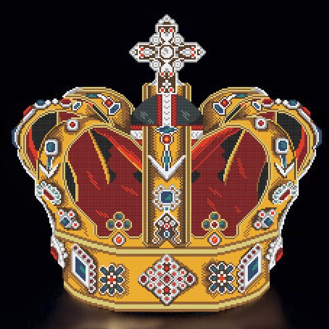 корона вышивка бисером