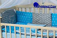 Детский постельный комплект с подушками Звезда