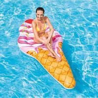 Надувной плотик круг для плавания Intex 58762 Мороженое