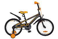 """Детский велосипед Formula Wild 18"""" серо-оранжевый"""