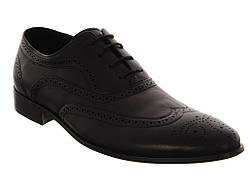 Стильные туфли на шнурках ROZOLINI-3100-1-1G   44  черный