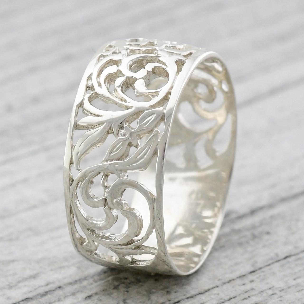 """Серебряное кольцо """"Сказка"""", вес 4.74 г, размер 16.5"""