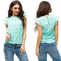 """Летняя шифоновая блуза в горошек """"SAMMY"""" с воланами на рукавах (6 цветов), фото 2"""