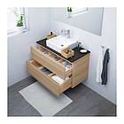 Шкаф с раковиной IKEA GODMORGON / TOLKEN / TÖRNVIKEN 102x49x72 см с 2 ящиками беленый дуб антрацит 591.864.97, фото 2