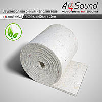 Звукоизоляционный наполнитель (звукоизоляция стен, потолка) A4Sound Wall 25. 10м х 06м х 25мм