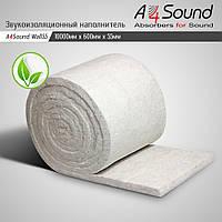 Звукоизоляционный наполнитель (потолок, стены) A4SoundWall 55.  10м х 0.6м х 55мм