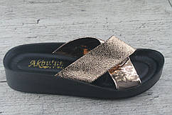 Шлепанцы, сланцы, босоножки женские Akbulut, обувь летняя, открытая, Турция