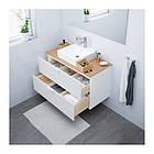 Шкаф с раковиной IKEA GODMORGON / TOLKEN / TÖRNVIKEN 102x49x72 см с 2 ящиками белый бамбук 591.851.34, фото 2