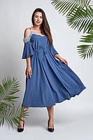 Платье женское с вставками кружева