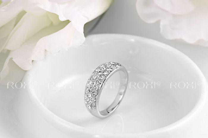 """Женское кольцо """"Сияние"""" покрытие платина"""