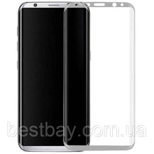 Стекло Samsung G950 Galaxy S8 (0.3 мм, 3D, с олеофобным покрытием) silver