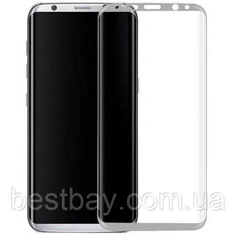Стекло Samsung G950 Galaxy S8 (0.3 мм, 3D, с олеофобным покрытием) silver, фото 2