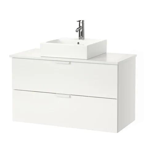 Шкаф с раковиной IKEA GODMORGON / TOLKEN / TÖRNVIKEN 102x49x72 см с 2 ящиками белый 991.851.46