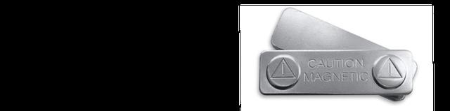 Магнитное крепление для бейджиков из металла