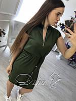 Літній шовкове плаття воріт змійка Батал до 54р 16614-1, фото 1