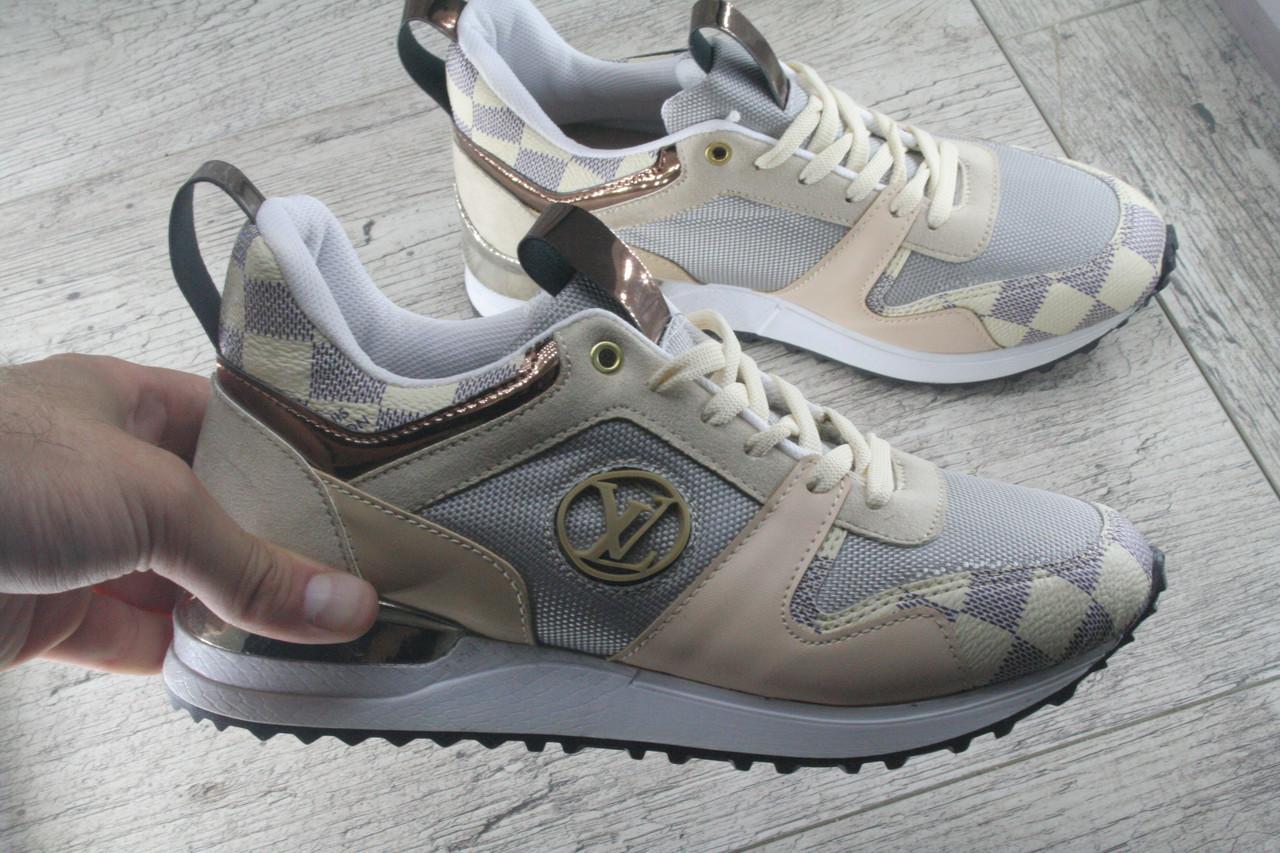 Кроссовки, мокасины женские под Louis Vuitton обувь из эко кожи спортивная, повседневная