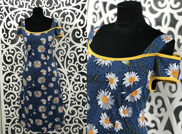 """Прекрасное женское платье с Цветочным принтом """"Трикотаж"""" 56 размер батал, фото 2"""