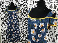 """Прекрасное женское платье с Цветочным принтом """"Трикотаж"""" 56 размер батал"""