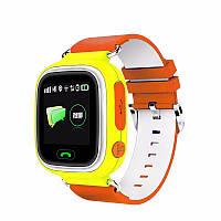 Детские умные часы Q90 с GPS трекером и функцией телефона - Orange, фото 1