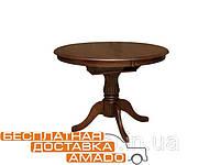 Обеденный стол Анжелика V 1060(&330)*1060*760 (каштан) Domini
