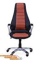 Кресло Форс (CX 0678 Y10) к/з PU черный /коричневые вставки, фото 1