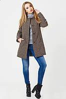 Пальто Leo Хелен зима шанель/коричневый