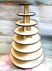 Подставка для кексов, маффинов, капкейков 40х30 см (8 ярусов)
