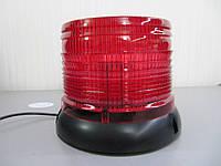 Проблесковый маячок   LED - 23, мигалка светодиодная. Красный цвет. https://gv-auto.com.ua, фото 1