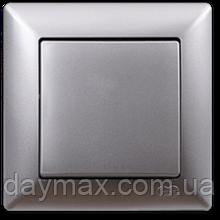 Выключатель одноклавишный Gunsan Visage, VS 28 15 101, серебро