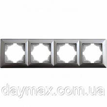 Рамка четверная Gunsan Visage, VS 28 15 145, серебро