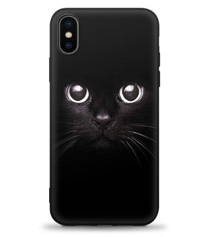 Силиконовый чехол бампер для Iphone X с рисунком Котик