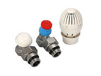 Радиаторный комплект термостатических кранов 1/2 Giacomini угловой R470FX003
