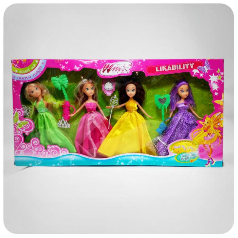 Ляльки Winx 786 4 шт, аксессуари, в коробці, 60-30-5см