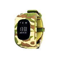 Детские умные часы с GPS трекером GW300 (Q50)  Камуфляж