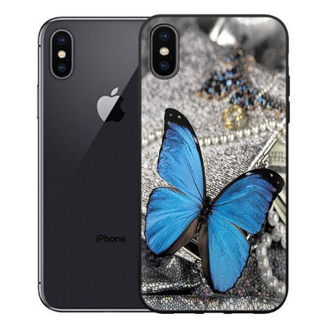 Силиконовый чехол бампер для Iphone X с рисунком Бабочка