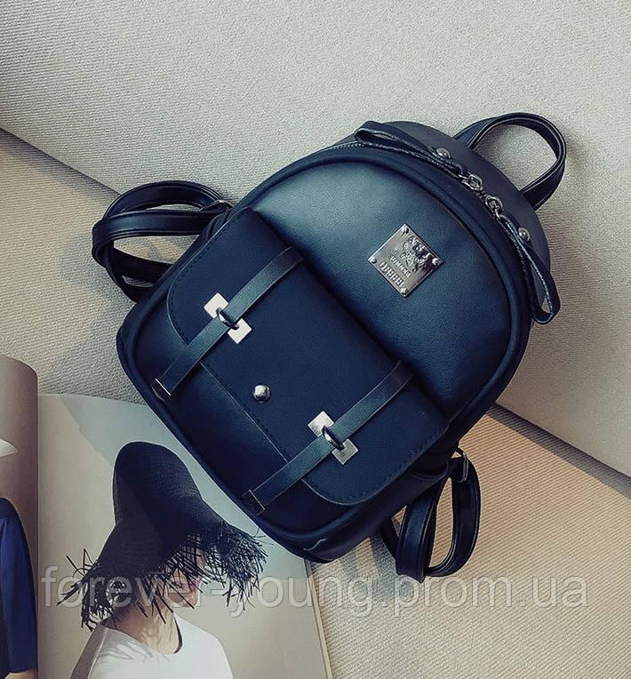 445f6497d927 Купить Стильный женский рюкзак с ремешками черный в Киеве от ...