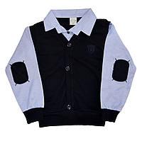 Рубашка с жилеткой обманкой и латками для мальчика