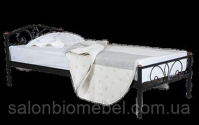 Кровать металлическая Релакс 0,9 черная