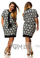 "Шикарное женское r платье ткань ""Штапель"" 48, 50, 52 размер батал"