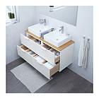 Шкаф с раковиной IKEA GODMORGON / TOLKEN / TÖRNVIKEN 122x49x72 см с 4 ящиками бамбук белый 991.851.51, фото 2