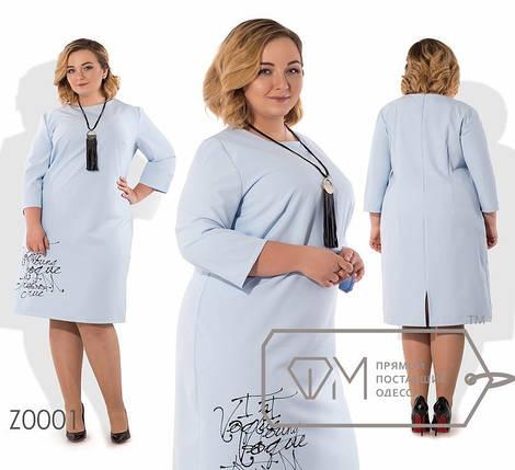 Изысканное женское платье ткань *Костюмная* 52, 54 размер батал, фото 2