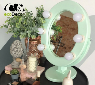 Зеркало с лампочками мятное Star