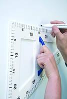 Набор магнитных инструментов для маркерных и меловых досок: треугольник 60 градусов, треугольник 45 градусов, угломер (транспортир), линейка 100 см,